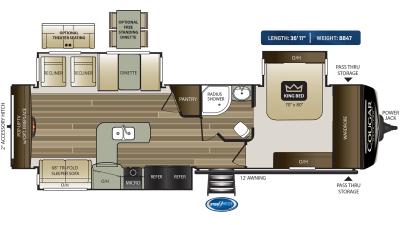 Cougar Half Ton 33SAB Floor Plan - 2020