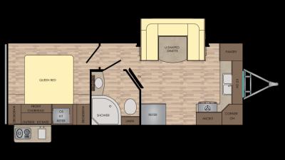 2018 Sunset Trail Super Lite 210FK Floor Plan