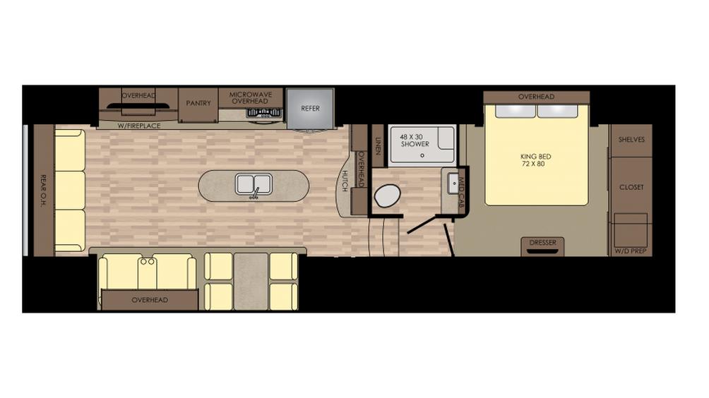 2018 Cruiser 339RL Floor Plan
