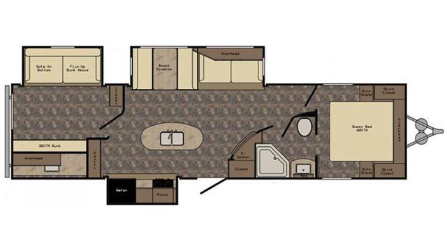 2017 ReZerve RTZ33BH Floor Plan