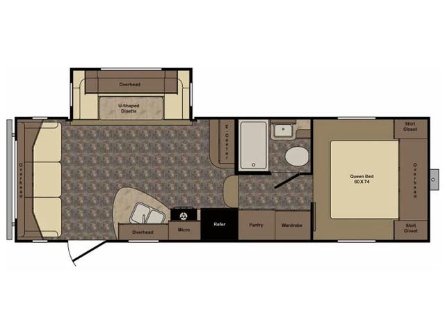 2017 ReZerve RFZ24RL Floor Plan