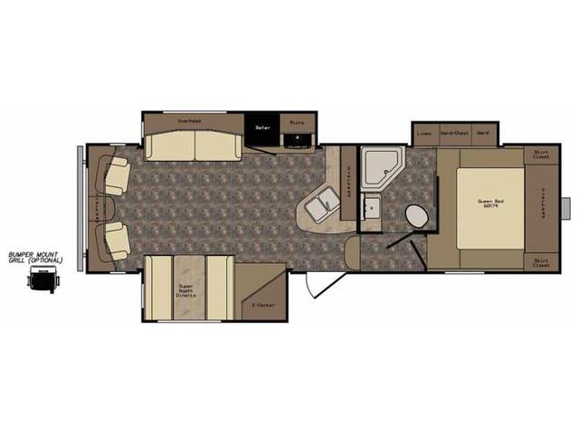 2017 ReZerve RFZ28RL Floor Plan