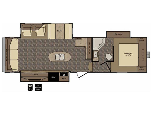 2017 ReZerve RFZ29RL Floor Plan