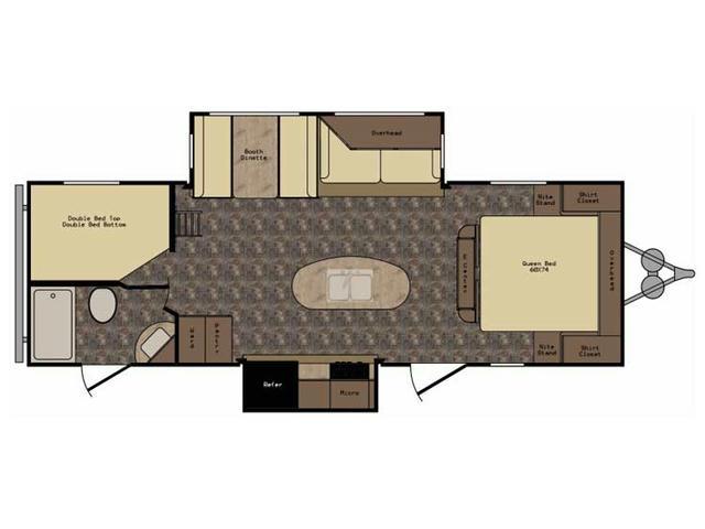 2017 ReZerve RTZ26RB Floor Plan