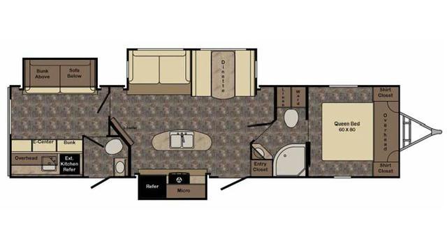 2017 Sunset Trail Super Lite ST320BH Floor Plan
