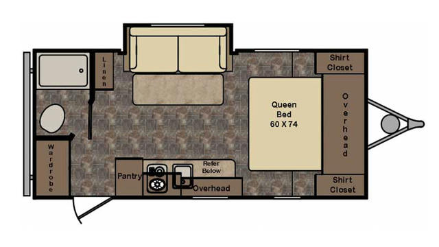 2017 Z-1 Lite ZT18SS Floor Plan