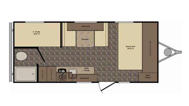 2017 Z-1 Lite ZT19BH Floor Plan