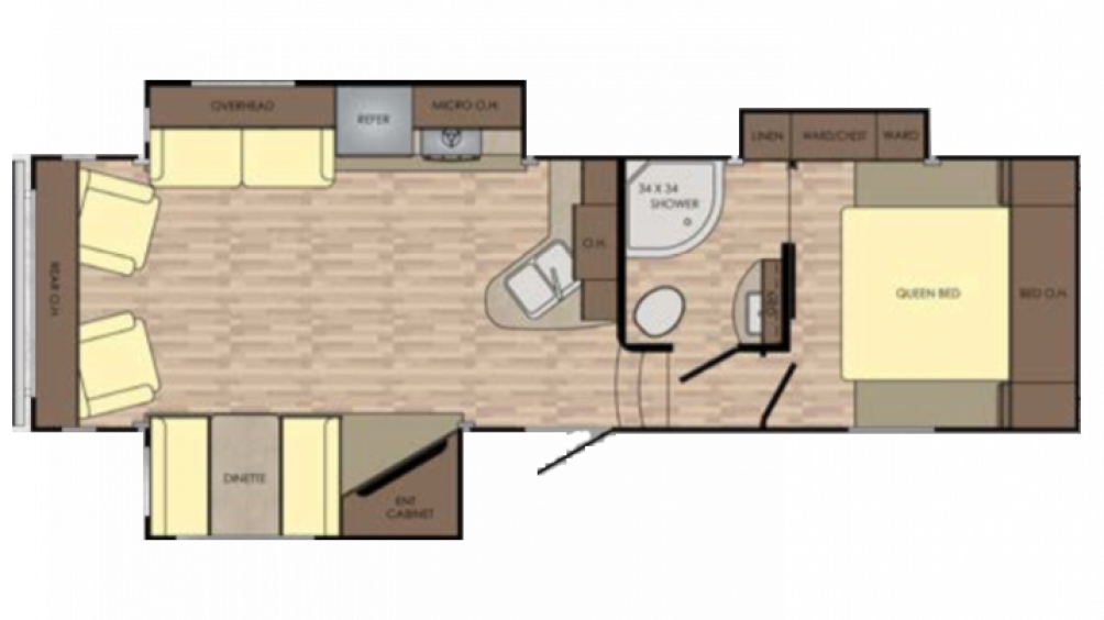 Cruiser Aire 28RL Floor Plan - 2018