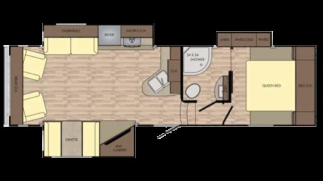 2018 Cruiser Aire 28RL Floor Plan