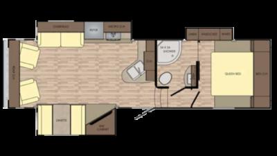 Cruiser Aire 28RL Floor Plan - 2018