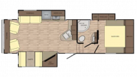 2018 Cruiser Aire 28RL Floor Plan