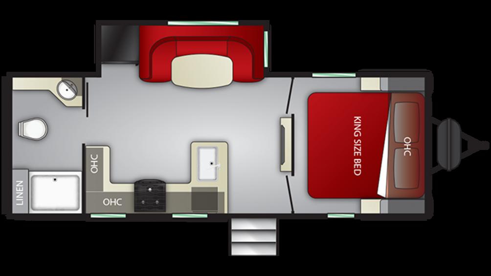 2019 Cruiser MPG 2200RB Floor Plan Img