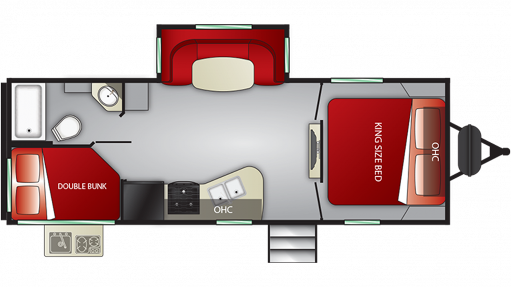 2019 Cruiser MPG 2400BH Floor Plan Img