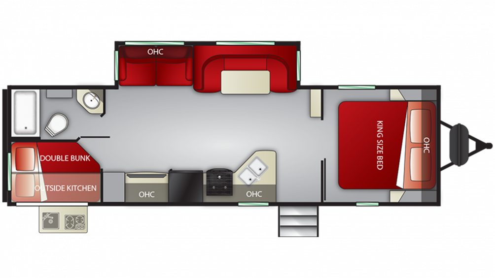 2019 Cruiser MPG 2750BH Floor Plan Img