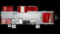 2019 Cruiser MPG 3100BH Floor Plan