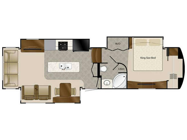 2018 Elite Suites 36RSSB3 Floor Plan