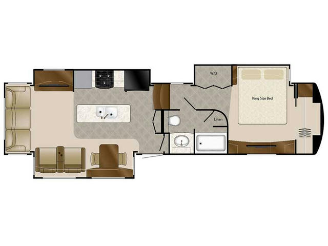 2018 Elite Suites 38RSB3 Floor Plan