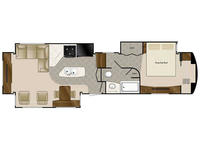 2019 Elite Suites 39RESB3 Floor Plan