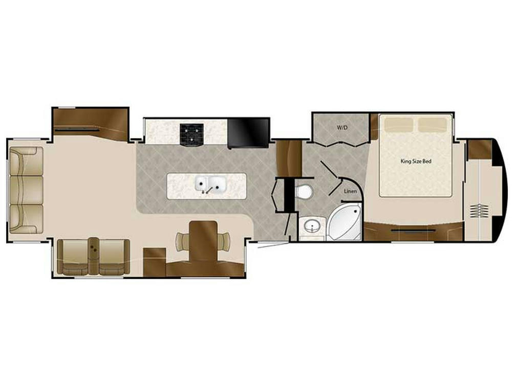 2018 Elite Suites 41RSSB4 Floor Plan