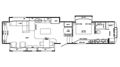 2018 Mobile Suites 44 SANTE FE Floor Plan