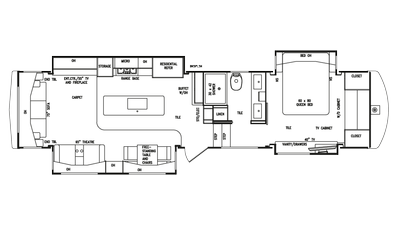 2018 Mobile Suites Aire 38 Floor Plan