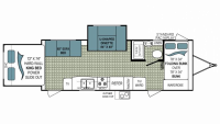 2010 Coleman 225KS Floor Plan