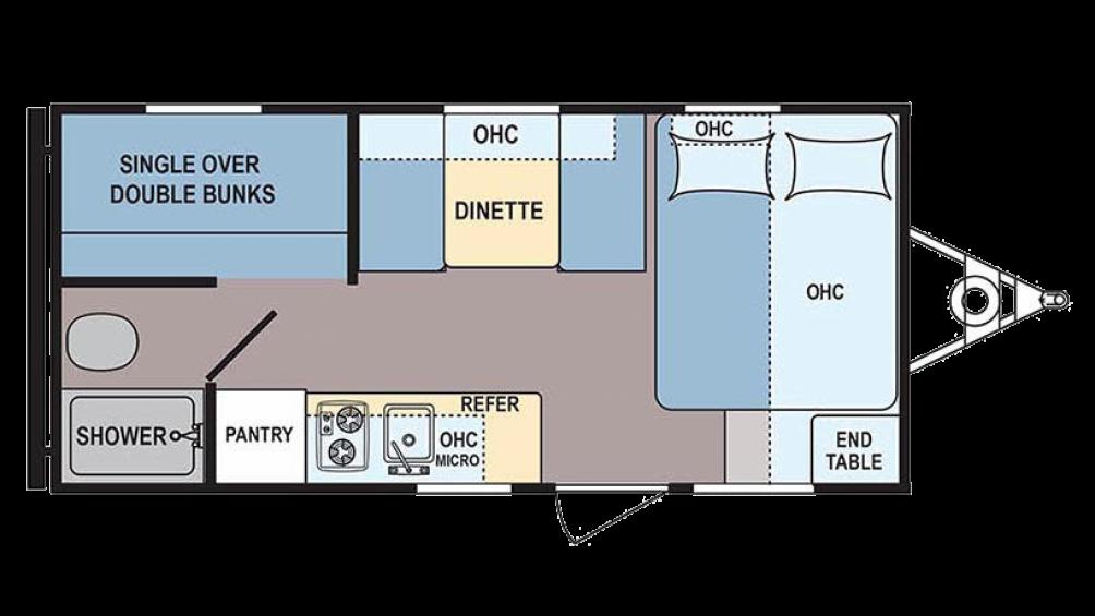 2017 Coleman 17FQ Floor Plan Img