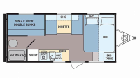 2017 Coleman 17FQ Floor Plan
