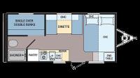 2017 Coleman 17FQ Floor Plan