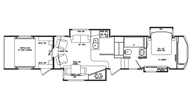 2018 Full House LX410 Floor Plan