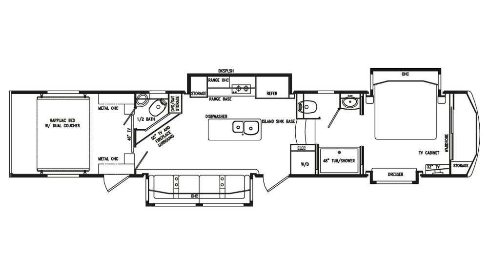 2018 Full House LX455 Floor Plan