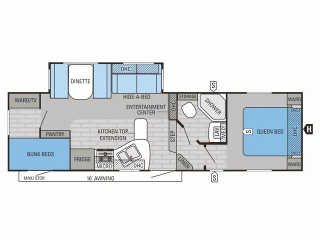 2014 Eagle HT 27.5BHS Floor Plan