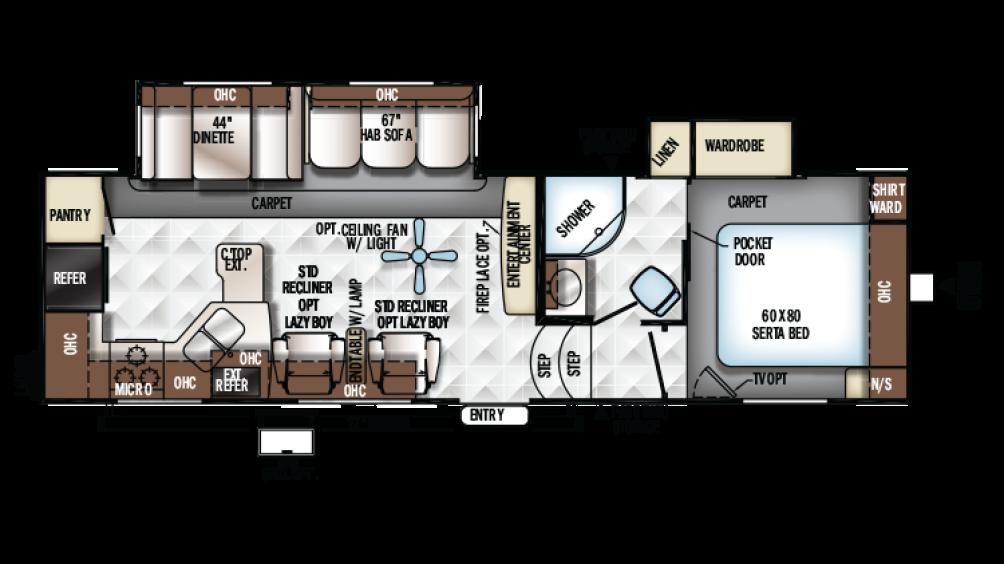Flagstaff Classic Super Lite 8528RKWS Floor Plan - 2017