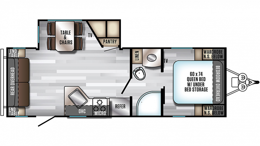 2019 Alpha Wolf 23RD-L Floor Plan Img