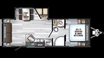 2019 Alpha Wolf 23RD-L Floor Plan Img