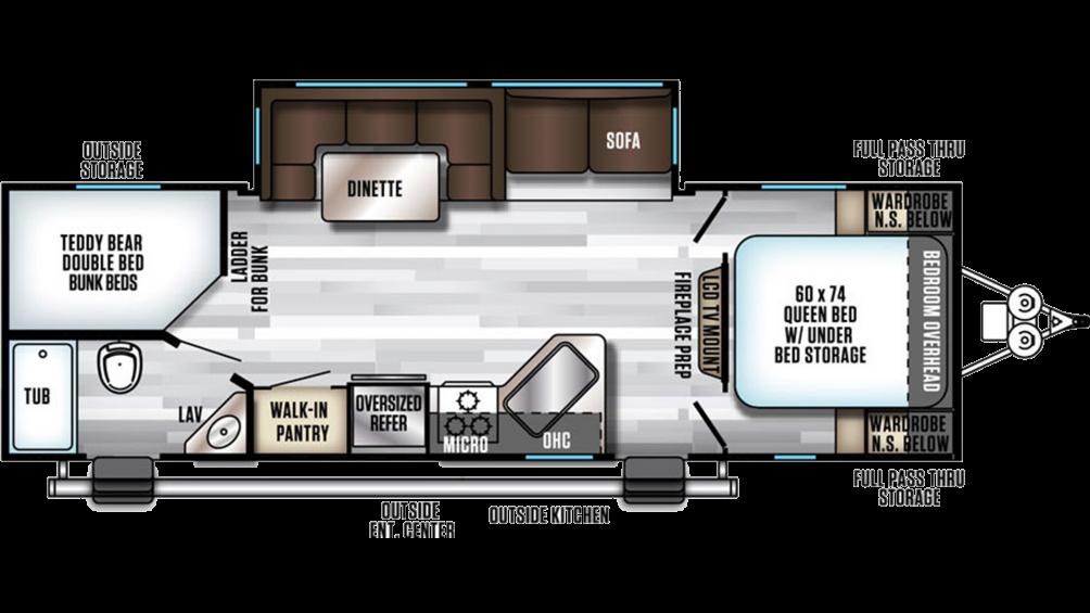 2019 Alpha Wolf 26DBH-L Floor Plan Img