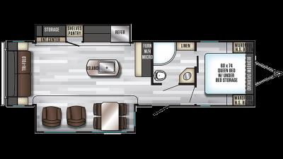 2019 Alpha Wolf 26RL-L Floor Plan Img