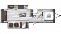 2019 Alpha Wolf 26RL-L Floor Plan