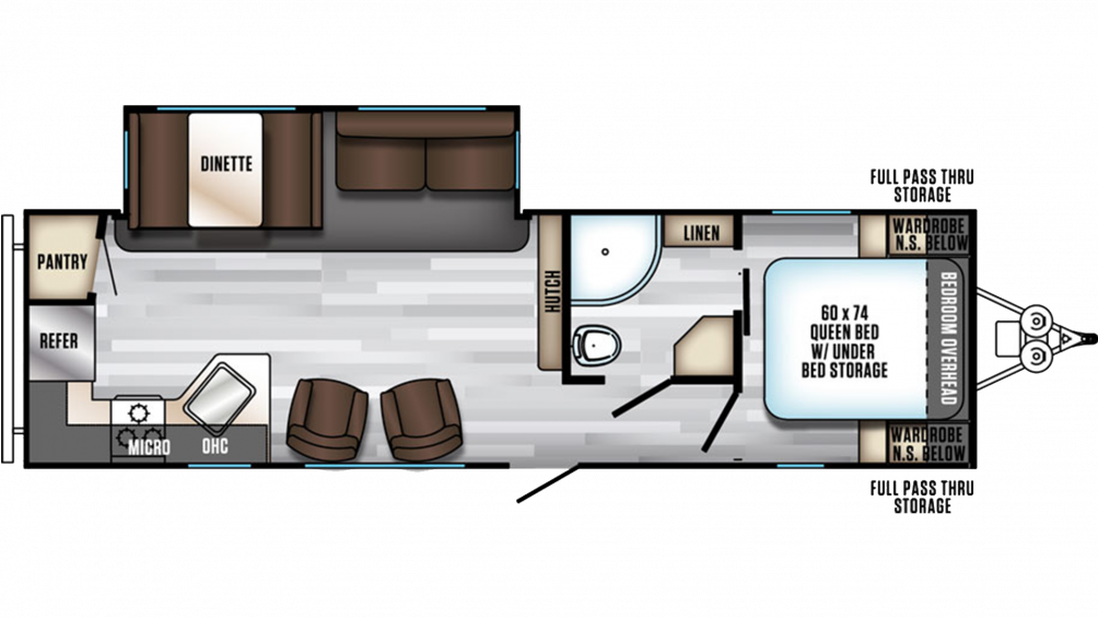 2019 Alpha Wolf 27RK-L Floor Plan Img