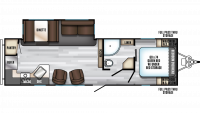 2019 Alpha Wolf 27RK-L Floor Plan