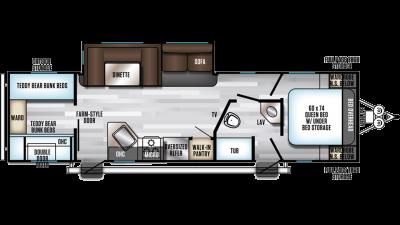 2019 Alpha Wolf 29QB-L Floor Plan Img