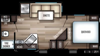 2019 Cherokee 214JT Floor Plan Img