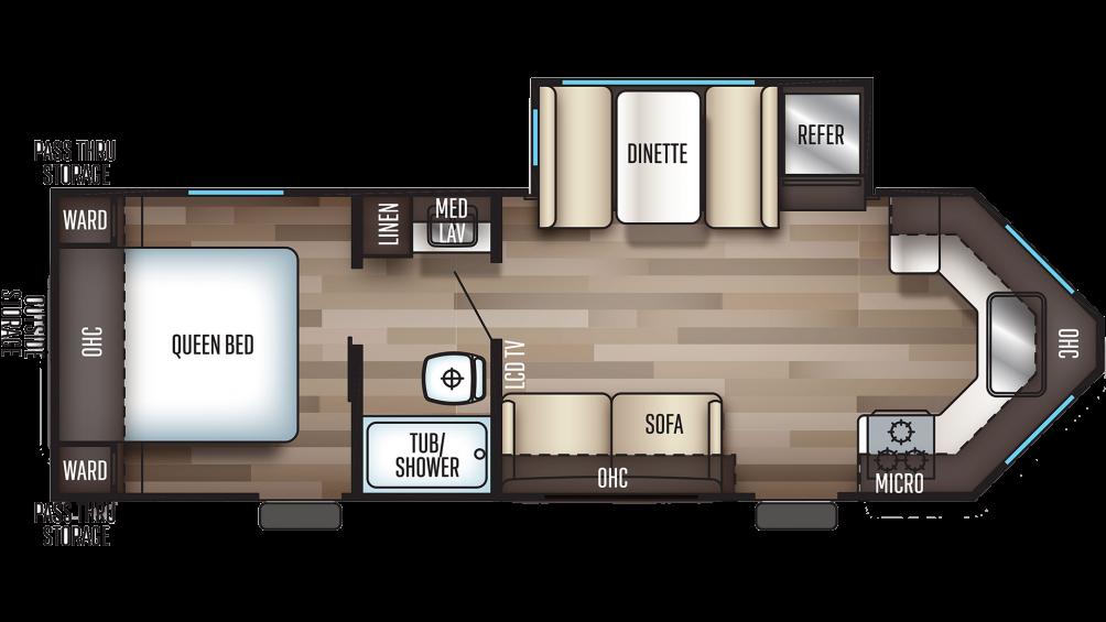 2019 Cherokee 234VFK Floor Plan Img
