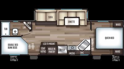 2019 Cherokee 264CK Floor Plan Img