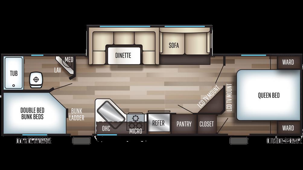 2019 Cherokee 264DBH Floor Plan Img