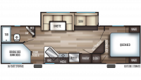2019 Cherokee 264DBH Floor Plan