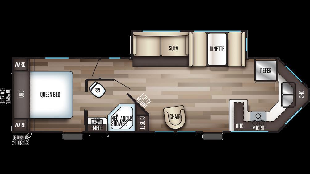 2019 Cherokee 274VFK Floor Plan Img