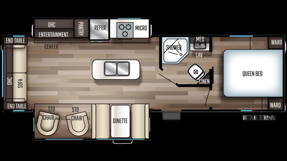 2019 Cherokee 274WK Floor Plan Img