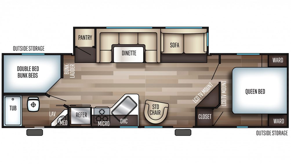 2019 Cherokee 284DBH Floor Plan Img