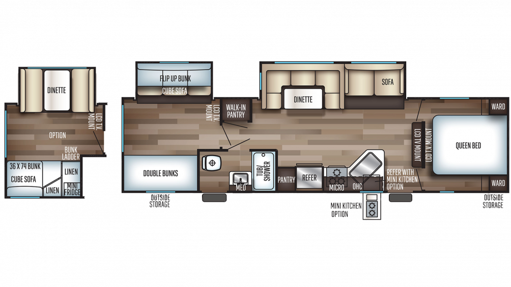 2019 Cherokee 294BH Floor Plan Img
